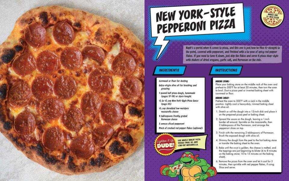 TEENAGE MUTANT NINJA TURTLES Crazy Pizza Cookbook Recipes