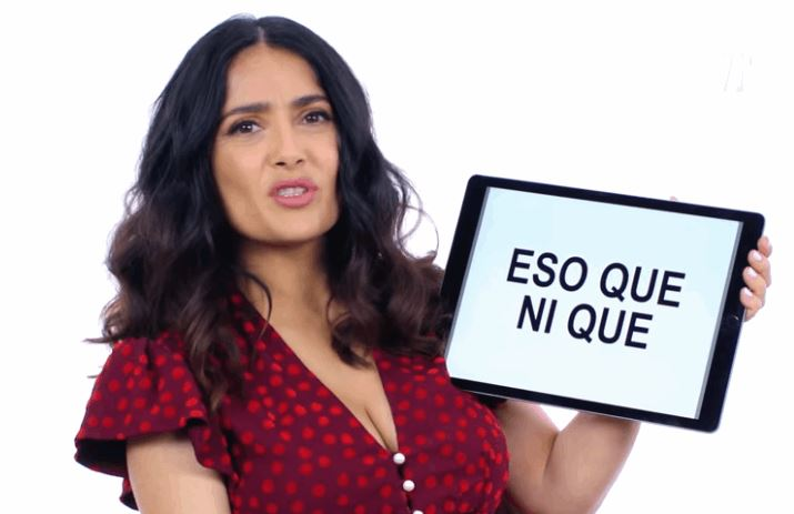 Salma Hayek Giving a Short Lesson on Mexican Slang Terms