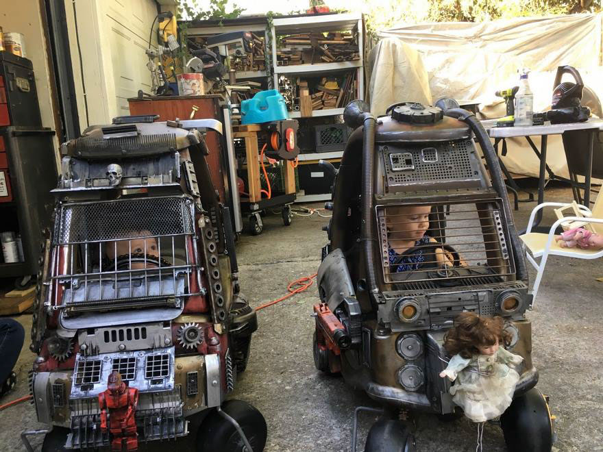 """Dad Transformed Toy Cars Into Insane """"Mad Max"""" Vehicles"""
