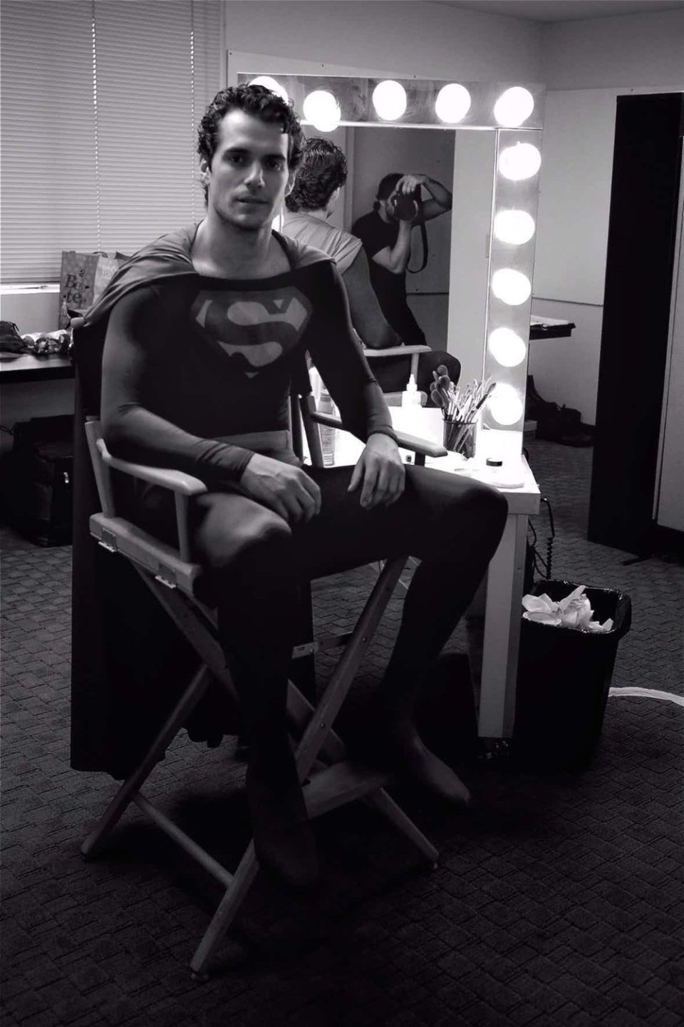 Henry Cavill Wearing Christopher Reeves' Superman Suit