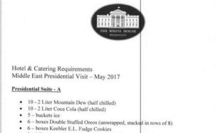 Trump's Catering Demands