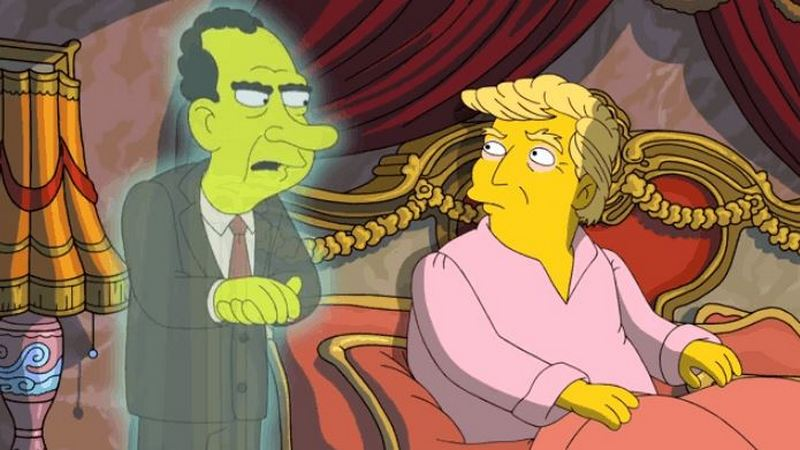 'The Simpsons' Trolls Donald Trump With Richard Nixon's Ghost