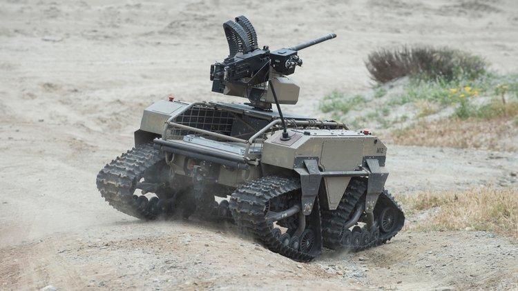 US Navy Machine Gun Robot