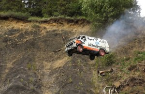 Launching Vehicles Off a Cliff
