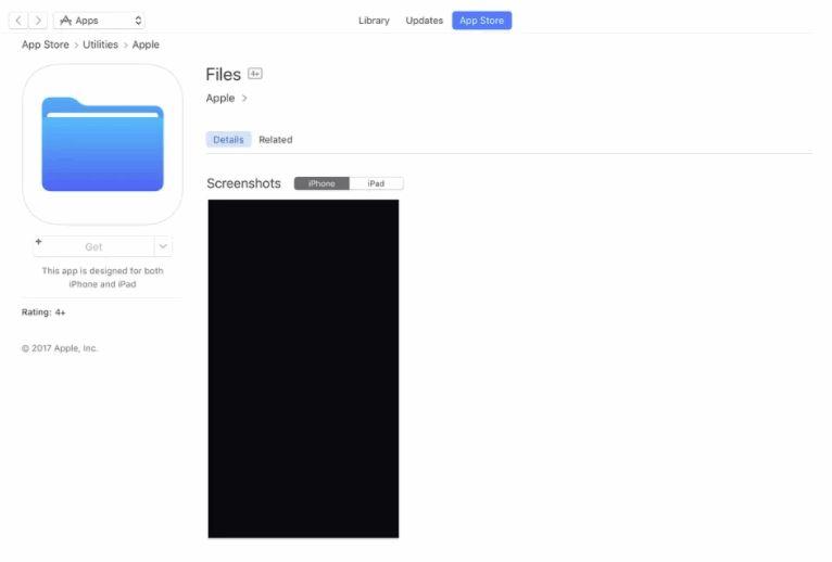 Apple's 'Files' App