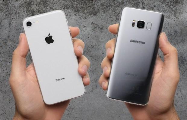 iPhone 8 vs Galaxy S8 Drop Test