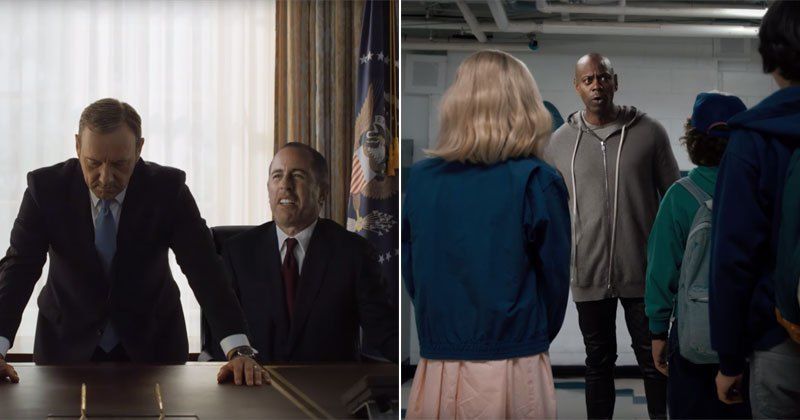 Check Out Netflix's Hilarious Commercial Featuring Dave Chappelle, Jerry Seinfeld, Chris Rock And More