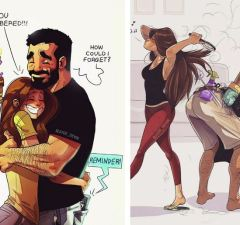 Artist Illustrates Everyday Life With His Wife