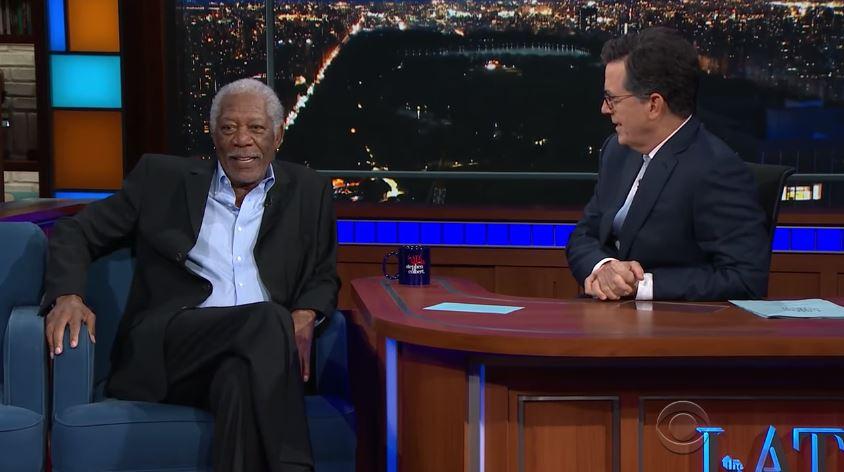 Morgan Freeman And Stephen Colbert