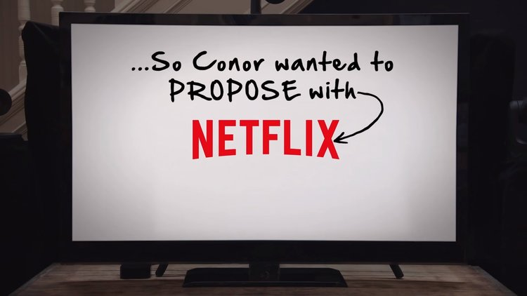 Netflix Help This Guy Propose To His Girlfriend Fizx