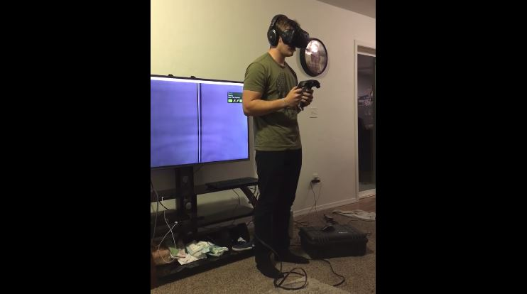 VR Fail: Man Breaks Friend's TV While Playing Virtual Reality