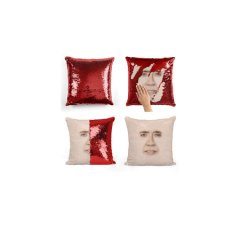 Nicolas Cage Sequin Pillow