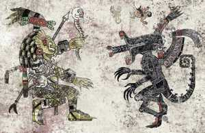 Aztec Inspired Pop Culture Illustrations