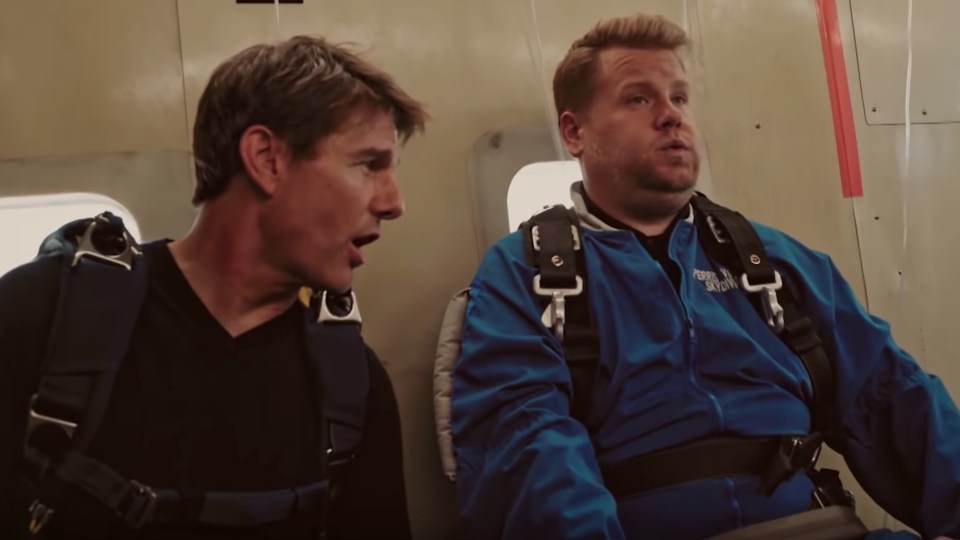 Tom Cruise and James Cordon