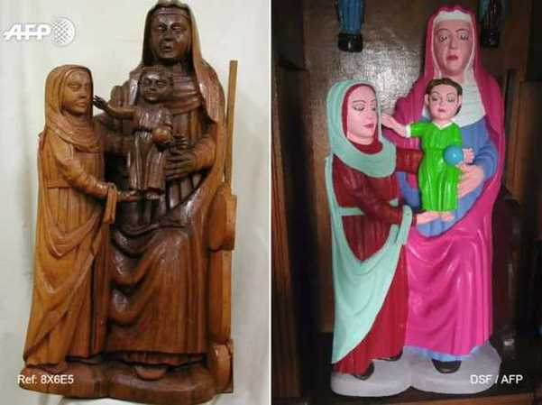 500-Year-Old Spanish Sculptures Given An Absurd Restoration By Amateur