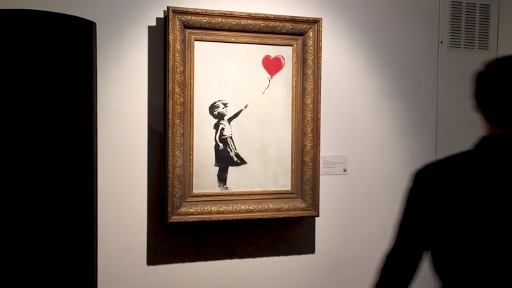 Banksy Released a Video Showing How He Destroyed His Artwork at The Auction