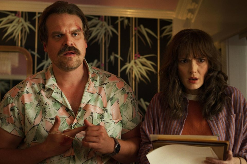 David Harbour and Winona Ryder
