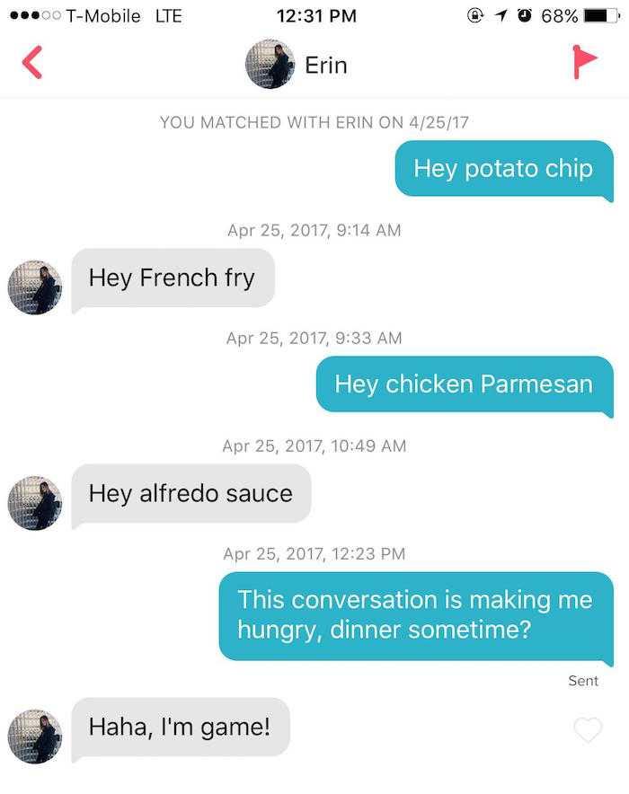 Tinder Pick-Up Lines