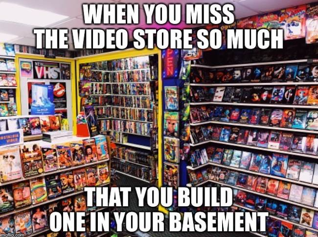 Basement movie collection