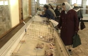 1990 USSR Grocery Store in Moscow