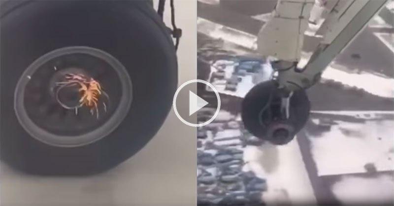 Plane Loses Wheel on Takeoff
