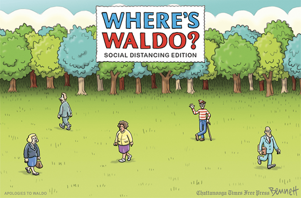 Where's Waldo? Social Distancing Edition