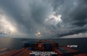 4K Timelapse of a Cargo Ship