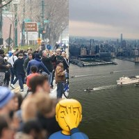 Large Crowds Gather in New York to Watch Arrival of US Navy Hospital Ship