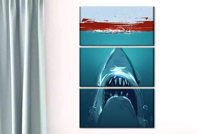Jaws Hunt Multi Panel Canvas Wall Art