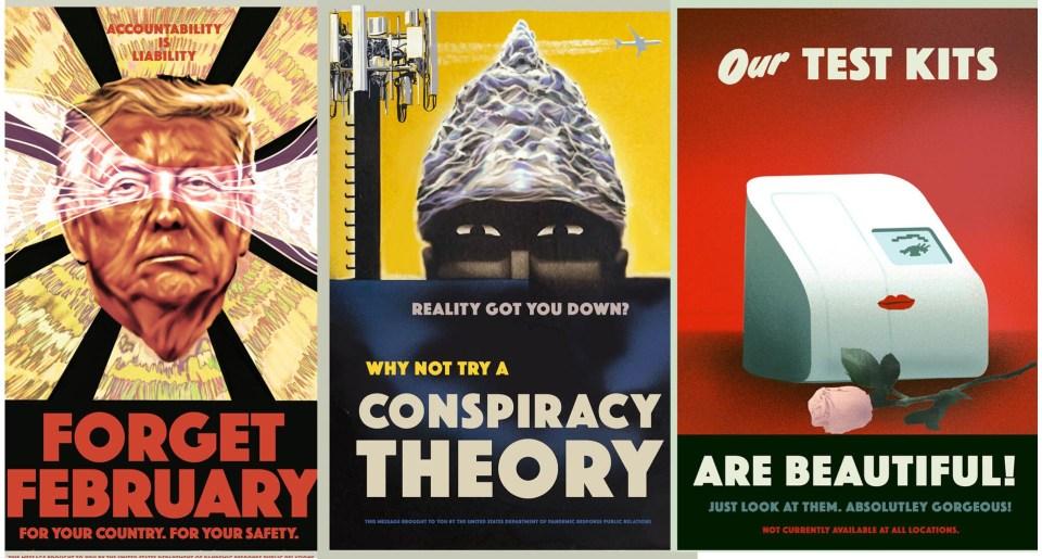Propaganda Posters About The Coronavirus
