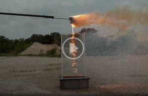 Molten Thermite Into Water