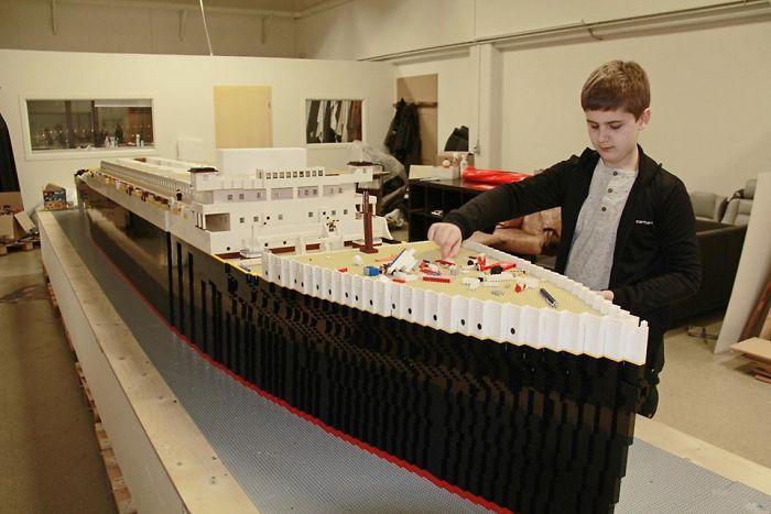 World's Largest LEGO Titanic Replica