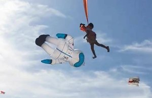 3-Year-Old Girl Lifted High in the Sky By a Kite