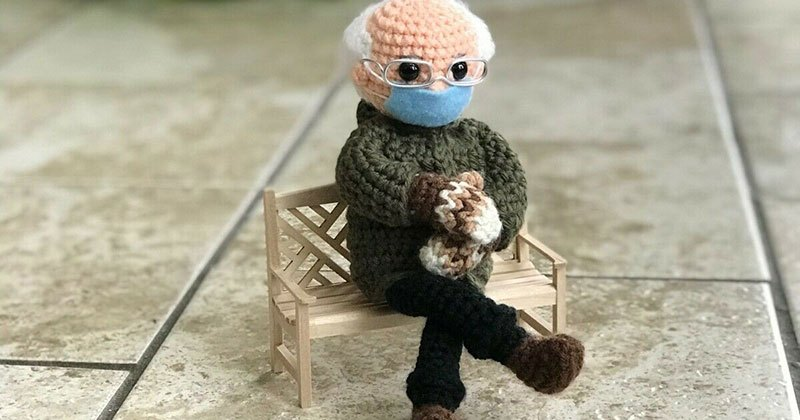Bernie Sanders Mittens Crochet
