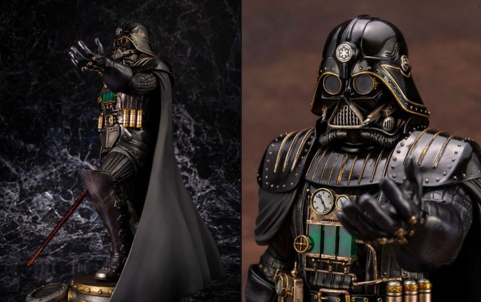 Insanely Cool Streampunk Darth Vader Statue (2)