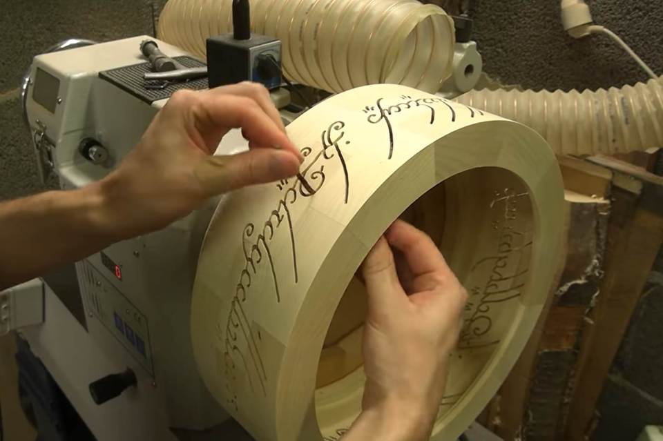 Wood Lamp of 'One Ring' From 'The Lord of the Rings'