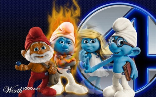 Smurfs & Fantastic Four