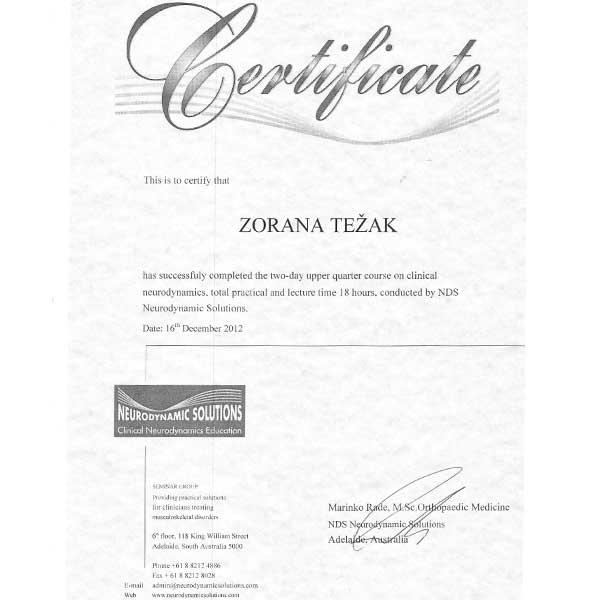Fizio GP - Zorana Težak