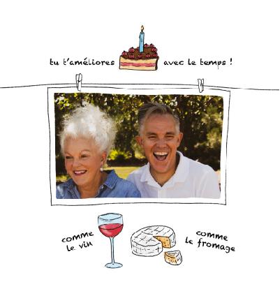 carte anniversaire humoristique a