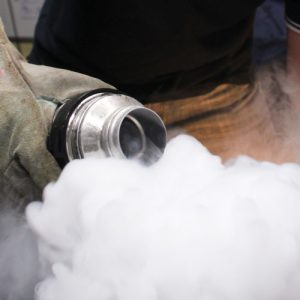 Pouring liquid nitrogen cropped