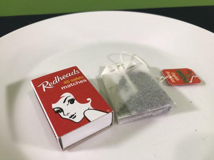 Tea bag rocket science experiment - materials needed