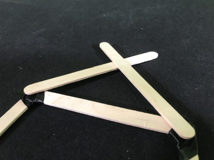 Create a rubber band racer science experiment - front triangle brace