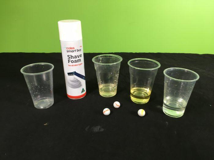 Making Layered Liquids Science experiment - setup_materials
