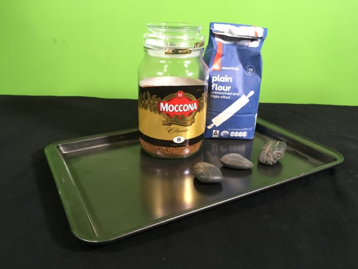 Model Meteorite Strikes Science Experiment - setup_materials