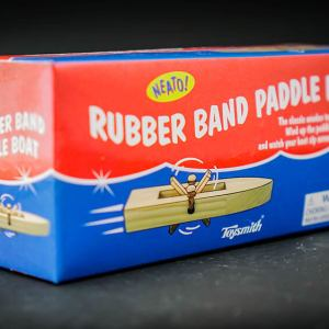 Rubber band powered boat