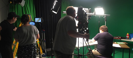 Ben in action at ABC ME studios