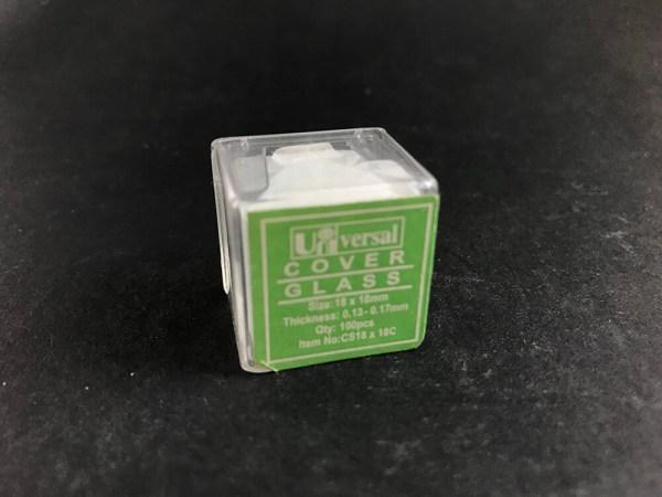 Microscope slide coverslip (pkt 100)