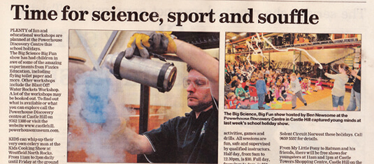 2012 Hill Shire Times Science and Soufle