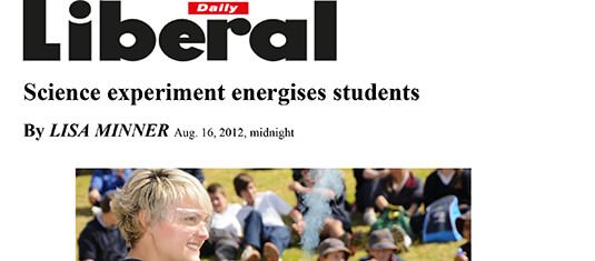 2012 Science experiment energises student
