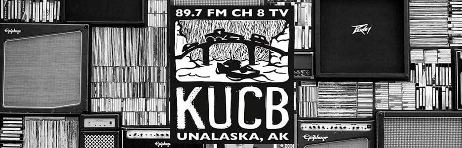 kucb-fm black and white logo